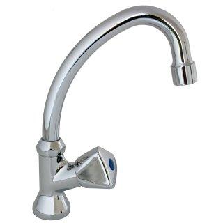 """Standhahn Kaltwasser Standschwenkventil Waschtisch Armatur 1/2"""" Metallgriff"""