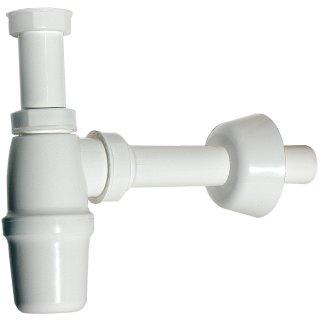 """Flaschensifon 1 1/4"""" x 32 mm Geruchverschluss aus Kunststoff weiß"""