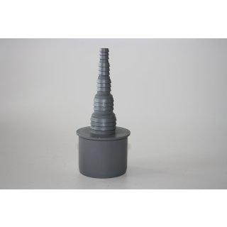 Schlauchnippel AIRFIT grau DN 40, DN 50  Übergang Schlauch / Abflussrohr/HT Rohr