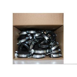 """Karton Rohrschellen 50 Stück 58 59 60 61 62 63 mm, 2 Zoll Gelenkrohrschellen 2 """""""