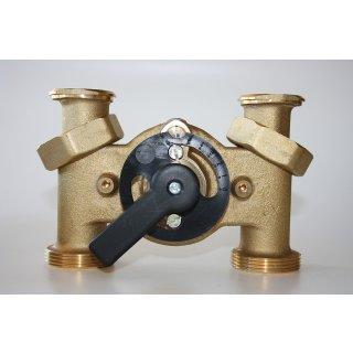 Heizungsmischer 3 Wege Mischer WITA H6 125 mm mit Beipass ohne Stellmotor SM W05