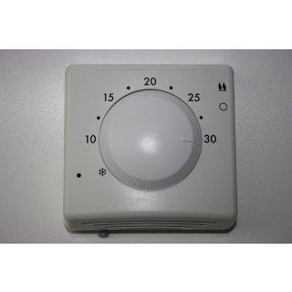 Raumthermostat mit Schalter, Fußbodenheizung,  Aufputz Thermostat, analog