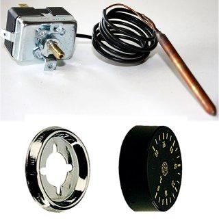 Kapillarthermostat TG 200 0-90°C Einbauregler +Drehknopf +Rosette, Thermostat