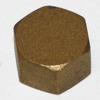 Messing Fitting Gewindefitting Kappe  1/4 Zoll