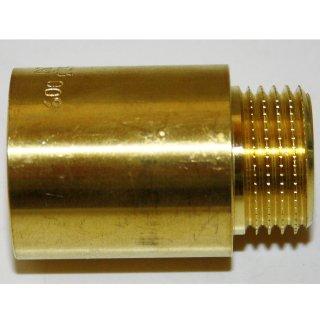 """Hahnverlängerung Messing 1/2"""" 30mm"""