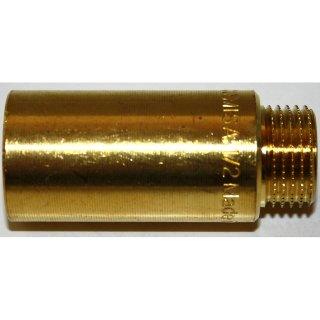 """Hahnverlängerung Messing 1/2"""" 50mm"""