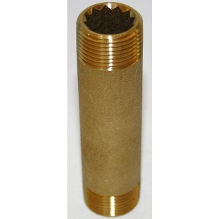 "Messing Rohrnippel Doppelnippel Fitting Gewindefitting  3/4""  Zoll 3/4"" x 100mm"