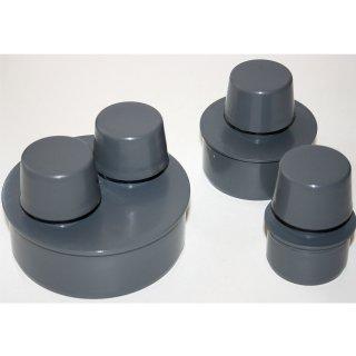 Rohrbelüfter für Abwasser DN 50 75 110  mm - passend für alle HT - Rohre