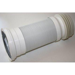 WC Anschlussrohr flexibel weiß Ø 98-105mm, Länge 285-500mm Toilettenanschluss