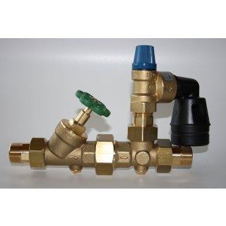 Boiler Speicher Sicherheitsgruppe B W G 3/4  in 6-8-10 bar Warmwasserspeicher