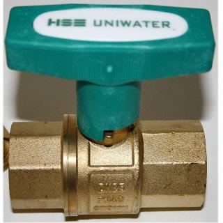 """Trinkwasser Kugelhahn UNIWATER mit ISO T Griff beidseitig Innengewinde    1""""   DN 25"""