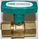 Trinkwasser Kugelhahn UNIWATER mit ISO T Griff beidseitig...