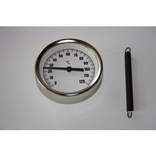 Anlegethermometer Bimetall,  Anlege Thermometer Zeigerthermometer 0-120°C 63 mm
