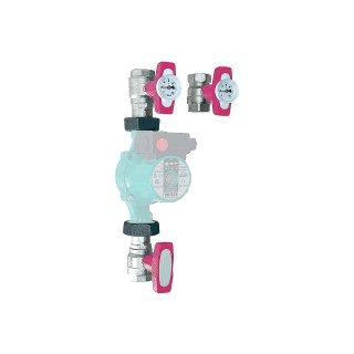 """ISO-T Pumpen Kugelhahn-Set 1"""" (DN 25)  ISO T Pumpenanschlussgruppe"""